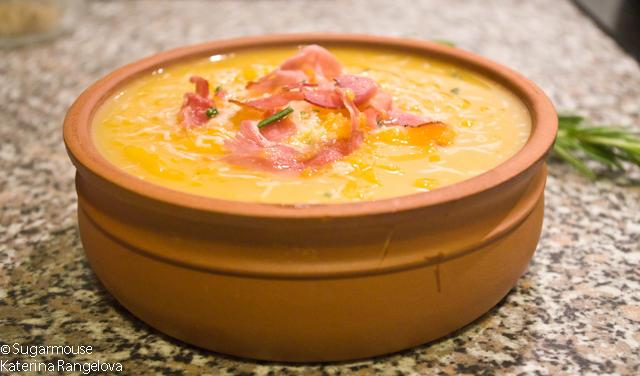 Крем супа от тиква и бекон