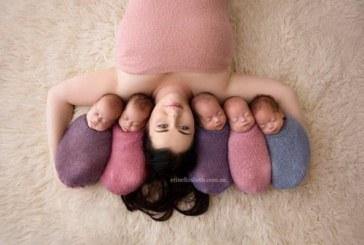 Жената, която роди 5 деца за 2 минути, показа бебетата си /СНИМКИ/