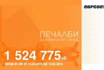 1 524 775 лева печалби в игрите на Евробет за изминалия тираж