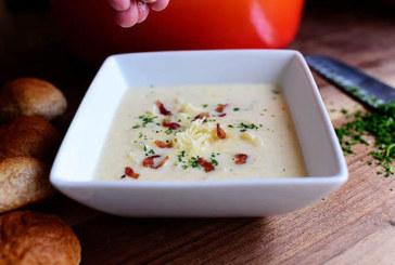Крем супа от карфиол с бекон