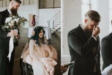 Булка, прикована в инвалидна количка, ШОКИРА всички на сватбата си