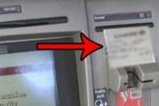 Внимание! Използвате ли банкомати? Не взимайте бележката след транзакцият
