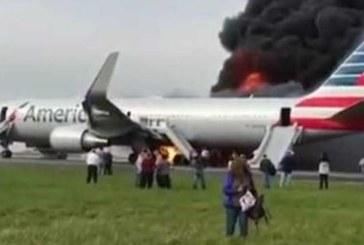 Самолет се подпали на летището