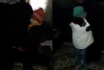 Ето как родители се прощават със своите малки дъщери – камикадзета и им дават благословение за извършване на терористичен акт