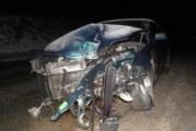 БМВ събори стълб в Благоевград, шофьорът избяга