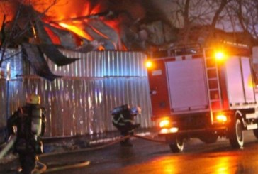 Огнен ад в Разлог! Подпали се фабрика за палети