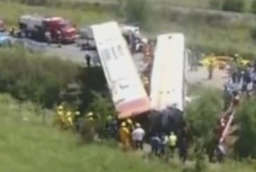 ТЕЖКА КАТАСТРОФА! 13 загинаха при челен удар на два автобуса