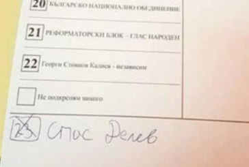 КУРИОЗ! Героят на футболните национали Спас Делев от петричкото с. Ключ получи глас за депутат
