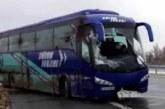 """Ужас на АМ """"Хемус""""! Лампи се срутиха върху автобус пълен с хора!"""
