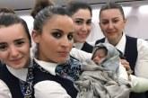 Жена роди на борда на самолет
