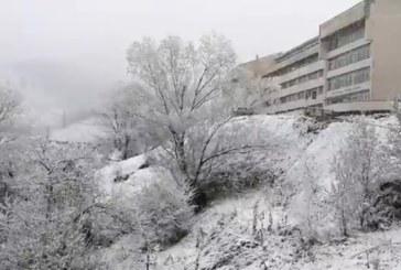 Сняг вали в Смолянска област