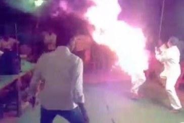 КОШМАР! Мъж изгоря жив на собствената си сватба