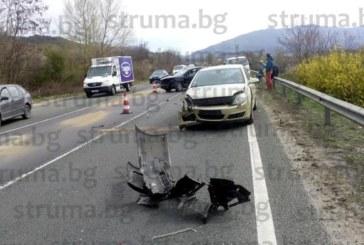 Колона от автомобили заради катастрофата край Симитли