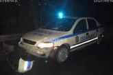 ИНЦИДЕНТ НА Е-79! Скала се стовари пред патрулка, полицаите на косъм от трагедия
