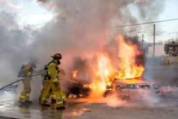 Кола се запали в движение в Кюстендил
