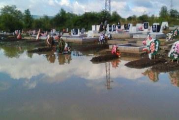 Гробището в Перник е под вода