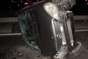 Зрелищна катастрофа край Благоевград, 30-г. шофьор на косъм от смъртта