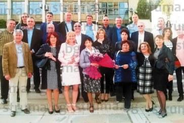 Бившият министър в МВР Веселин Вучков отпразнува със съученици в Благоевград 30 г. от завършване на Строителния техникум