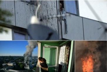 Ад под небето в Лондон! Хора от горящия блок скачат през прозорците, други висят на въжета от чаршафи