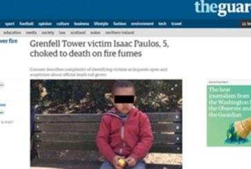 Мъката е голяма! 5-г. дете е една от жертвите на пожара в Лондон
