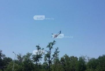Извънредно от Пловдив: Полиция отцепи пътя към Спешното, военен хеликоптер се приземи в болницата! (СНИМКИ)