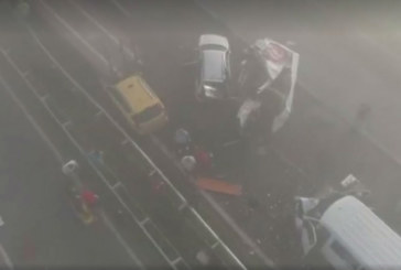 15 станаха ранените във верижната катастрофа на магистралата