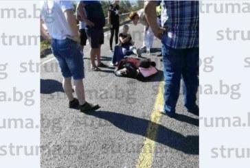 Катастрофа затвори Е-79 при Струмяни, моторист откаран в болница /снимки само в struma.bg/