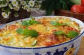 Мусака с тиквички, картофи и лук