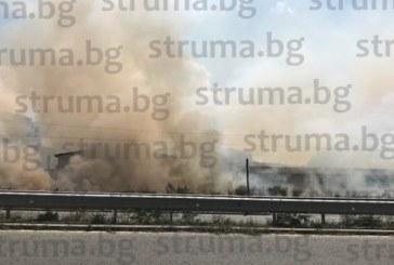 Пожар лумна на Е-79 край Дупница