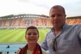 ОбС председателят на Благоевград Р. Тасков и бившето орле Зл. Богоев гледаха на живо в Скопие мача за суперкупата