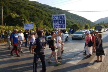 Огромно задръстване на Е-79 заради протеста