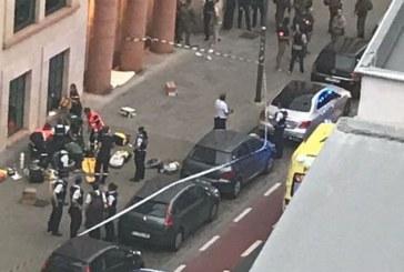 Мъж нападна войници с нож в Брюксел, простреляха го