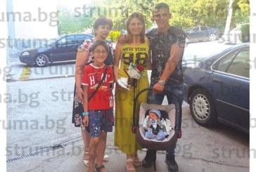 Учителката от Сандански Г. Ноцкова стана за втори път мъжка майка, малкият юнаксе появи на бял свят 2 седмици преди татко Костадин да се върне от гурбет в Англия
