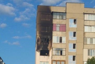 ПАНЕЛКА ПЛАМНА КАТО ФАКЛА! Три пожарни я гасиха