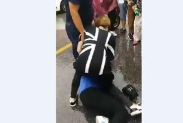 Страшна вендета! Разгневена съпруга в улично меле с любовницата на мъжа си