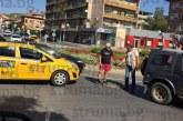 Такси се заби в джип на кръговото кръстовище при Трето основно училище в Благоевград