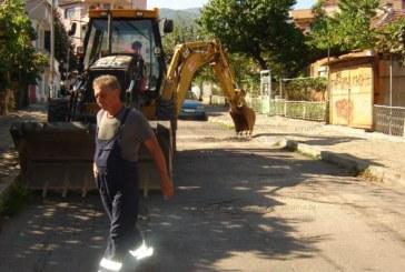 "Багер захапа улица ""Христо Смирненски"", ще подменят водопровода на квартал ""Казармите"""