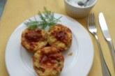 Картофени мъфини с шунка и лук