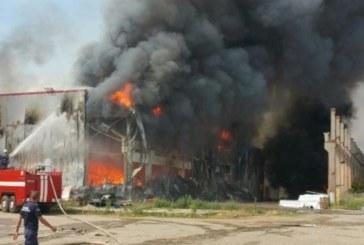 Изгоряха тонове билки и машини за пакетиране