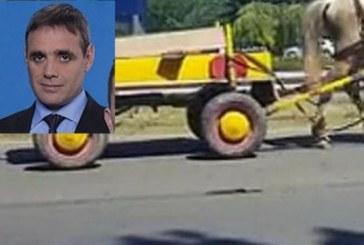 Шеф на общински съвет катастрофира заради каруца
