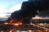 Търговски център потъна в пламъци в Москва