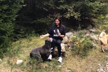 Преслава разходи кучетата си в балкана