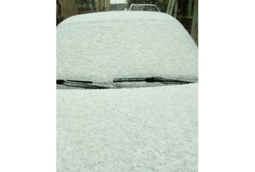Времето не се шегува! Първият сняг заваля в Трънско