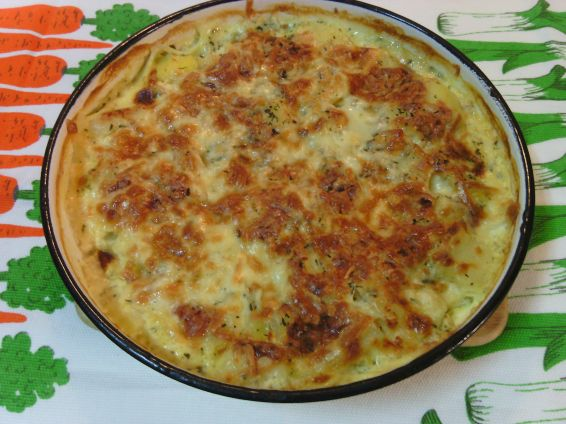 Картофи със сос Карбонара
