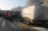 Рекордна верижна катастрофа в Русия! Помляха се седем камиона на магистралата