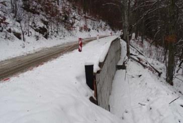 Подпорната стена на пропадналия път Рилски манастир-Кирилова поляна е готова
