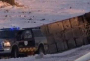 АД НА ПЪТЯ! Автобус с туристи се преобърна, 1 загина, други 12 ранени