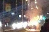 Горяща кола затвори Околовръстното от Созопол към Бургас
