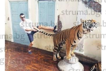 Благоевградският футболист Съни Дяков дърпа тигър за опашката в Тайланд, Д. Бербатов посрещна Елена и децата в Индия