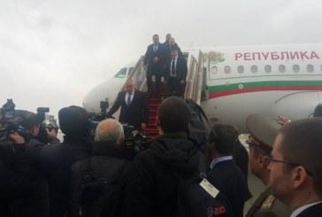 Премиерът Бойко Борисов пристигна в Баку